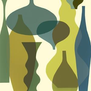 Floating Vases IV by Mary Calkins