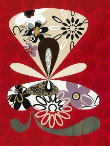 Flowers in Flight II by Mary Calkins