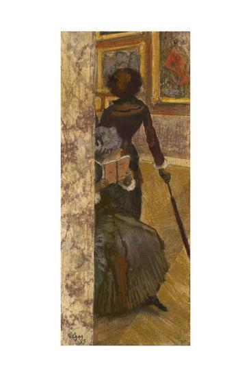 Mary Cassatt at the Louvre: the Paintings Gallery, 1885-Edgar Degas-Giclee Print