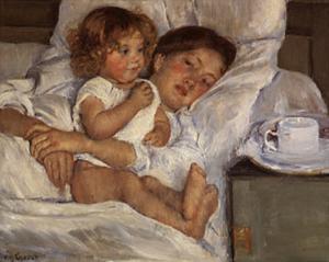 Breakfast in Bed by Mary Cassatt