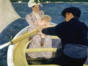 Cassatt: Boating, 1893-4 by Mary Cassatt