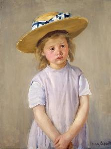 Child in a Straw Hat by Mary Cassatt