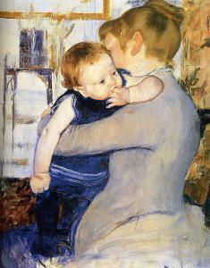 Child in Blue by Mary Cassatt