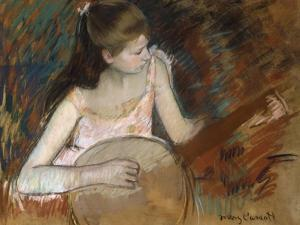 Girl with a Banjo by Mary Cassatt