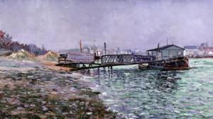 La Seine, Quai St., Painted Circa 1886 by Mary Cassatt