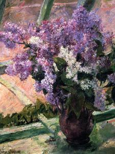 Lilacs in a Window, C1880 by Mary Cassatt