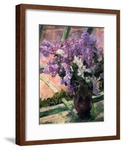 Lilacs in a Window, C1880 by Mary Cassatt