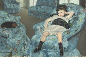 Little Girl in a Blue Armchair, 1878 by Mary Cassatt