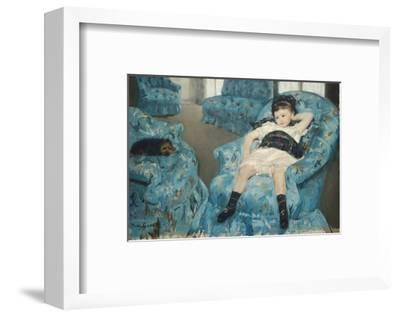 Little Girl in a Blue Armchair, c.1878