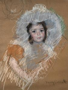 Margot Lux avec un large chapeau by Mary Cassatt