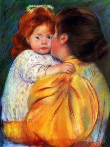 Maternal Kiss, 1896 by Mary Cassatt