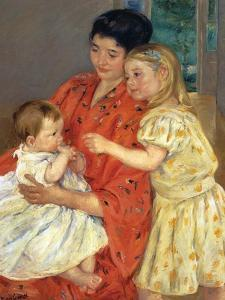 Mother and Sarah with the Baby, 1901 by Mary Cassatt