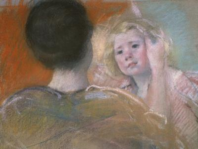 Mother Combing Sara's Hair, C. 1901 by Mary Cassatt