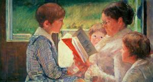 Mrs. Cassatt Reading to Her Grandchildren, 1888 by Mary Cassatt