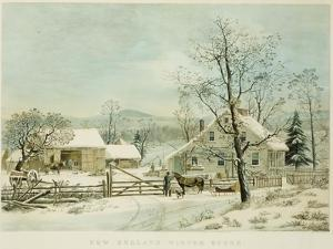 New England Winter Scene, 1861, Currier and Ives, Publishers by Mary Cassatt