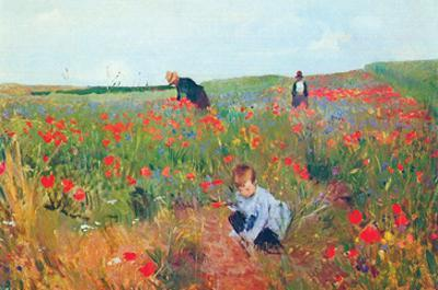 Poppies by Mary Cassatt