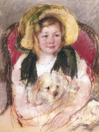 Sara with Her Dog in an Armchair, 1901