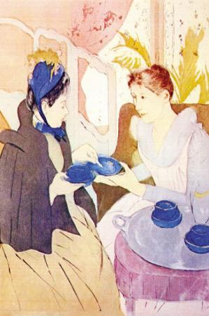 Tea In The Afternoon by Mary Cassatt