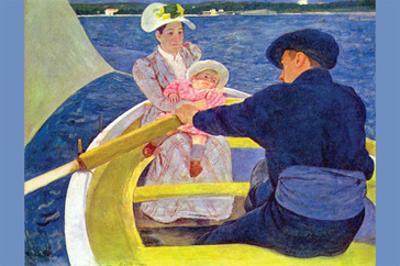The Boat Travel by Mary Cassatt