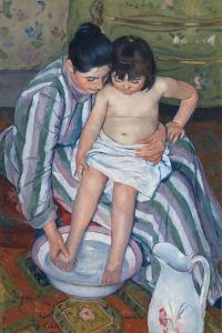 The Child's Bath by Mary Cassatt by Mary Cassatt