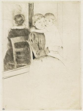 The Mirror, 1891 by Mary Cassatt