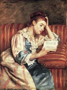Young Woman Reading by Mary Cassatt