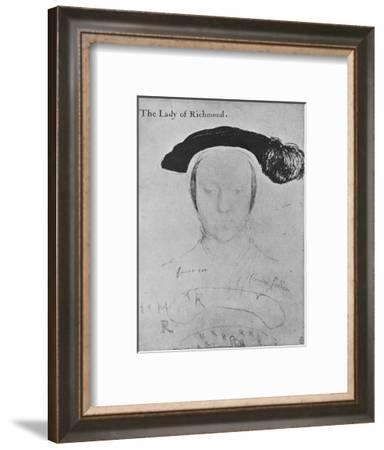 'Mary, Duchess of Richmond and Somerset', c1532-1533 (1945)-Hans Holbein the Younger-Framed Giclee Print
