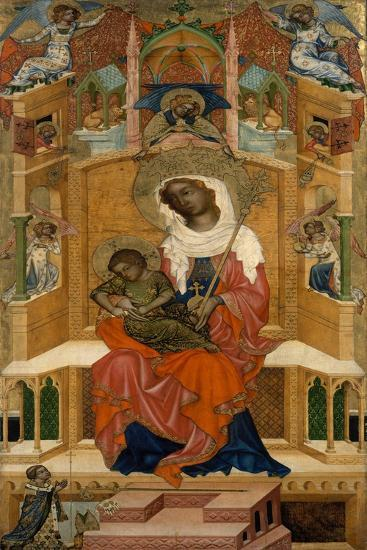 Mary Enthroned with the Child (Glatz Madonn), Ca 1350--Giclee Print