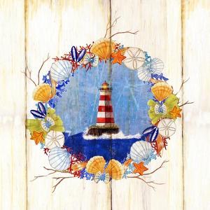 Coastal Lighthouse Wreath by Mary Escobedo