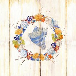 Coastal Wreath and Shell 3 by Mary Escobedo