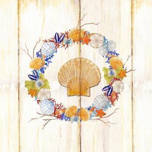 Coastal Wreath and Shell 4 by Mary Escobedo