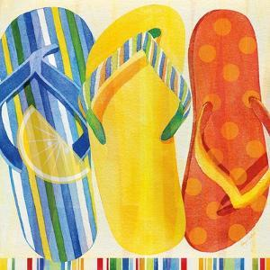 Colorful Flip Flops by Mary Escobedo