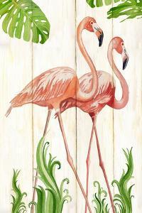 Flamingo Stroll 1 by Mary Escobedo