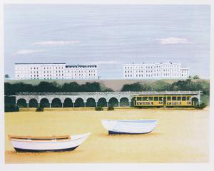 Beach at Brighton by Mary Faulconer