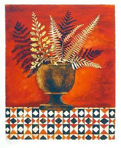 Red Ferns by Mary Faulconer