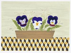 Three Pansies by Mary Faulconer