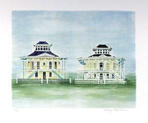 Twin Houses Mississippi by Mary Faulconer