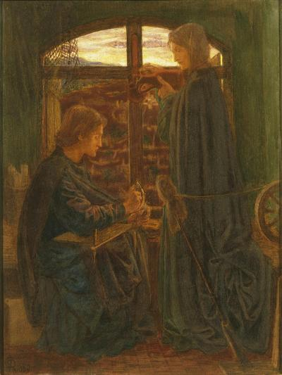 Mary in the House of St John-Dante Gabriel Rossetti-Giclee Print