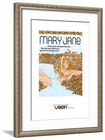 Mary Jane- Variety Films-Framed Art Print