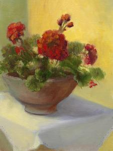 Tuscan Geraniums by Mary Jean Weber