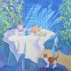 Cat At The Table by Mary Kemp