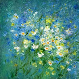 Daisies And Cornflowers by Mary Kemp