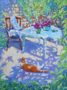 Ginger Cat In The Shadows by Mary Kemp