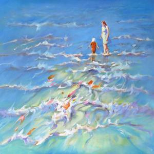 Mother And Child At The Seaside by Mary Kemp