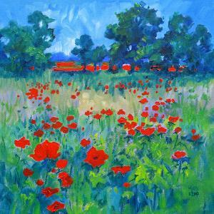 Poppy Field by Mary Kemp