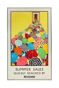 Summer Sales, Quickly Reached by Underground, 1925 by Mary Koop