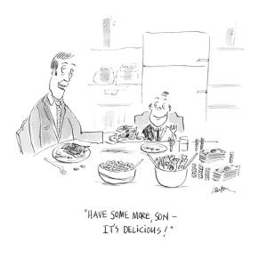 """""""Have some more, son ? it's delicious!"""" - Cartoon by Mary Lawton"""