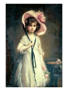 Portrait of Nancy, Daughter of Arthur Tooth by Mary Lemon Waller