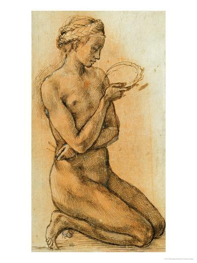 Mary Magdalen Contemplating the Crown of Thorns-Michelangelo Buonarroti-Giclee Print