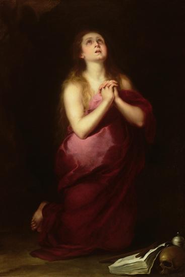 Mary Magdalene, 1650-55-Bartolome Esteban Murillo-Giclee Print